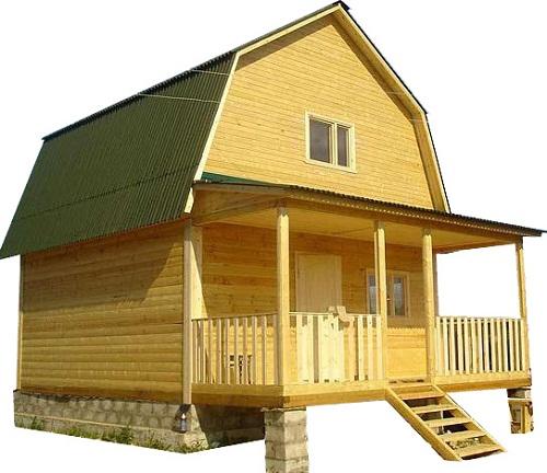 Запоминающийся натруальный аромат и огромное количество прочих положительных сторон: домик из прямоугольного бруса